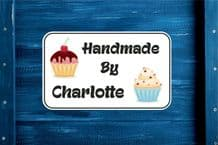 Personalised Handmade by with Cakes Gift Bag, Sticker